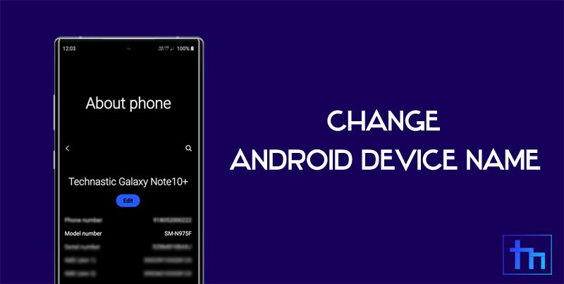 android device name change