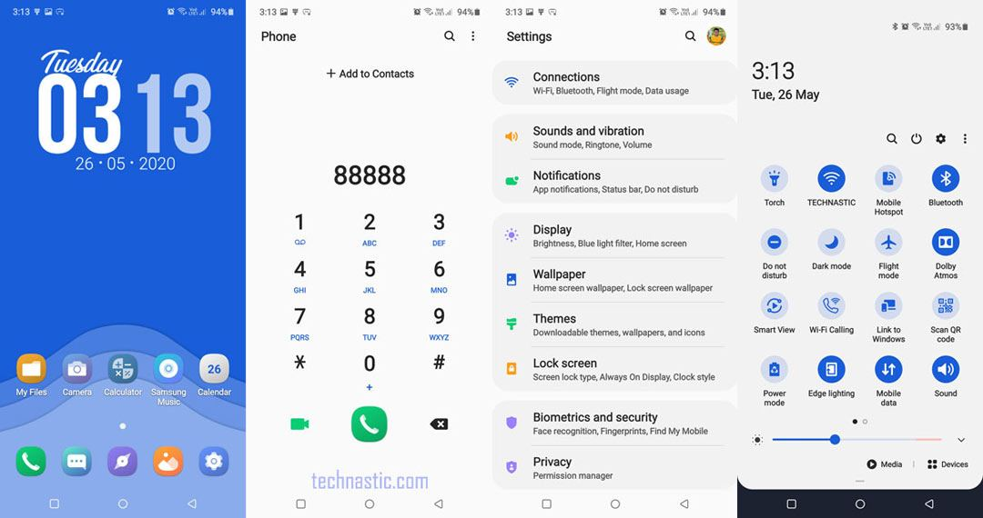 dream samsung one ui theme