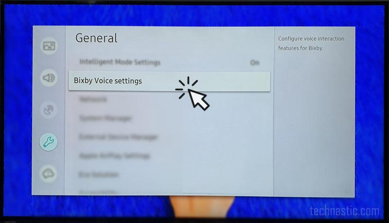 bixby settings on samsung tv