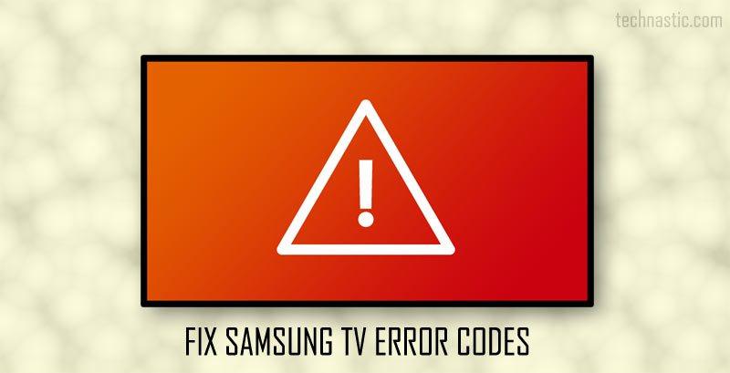 samsung tv error code