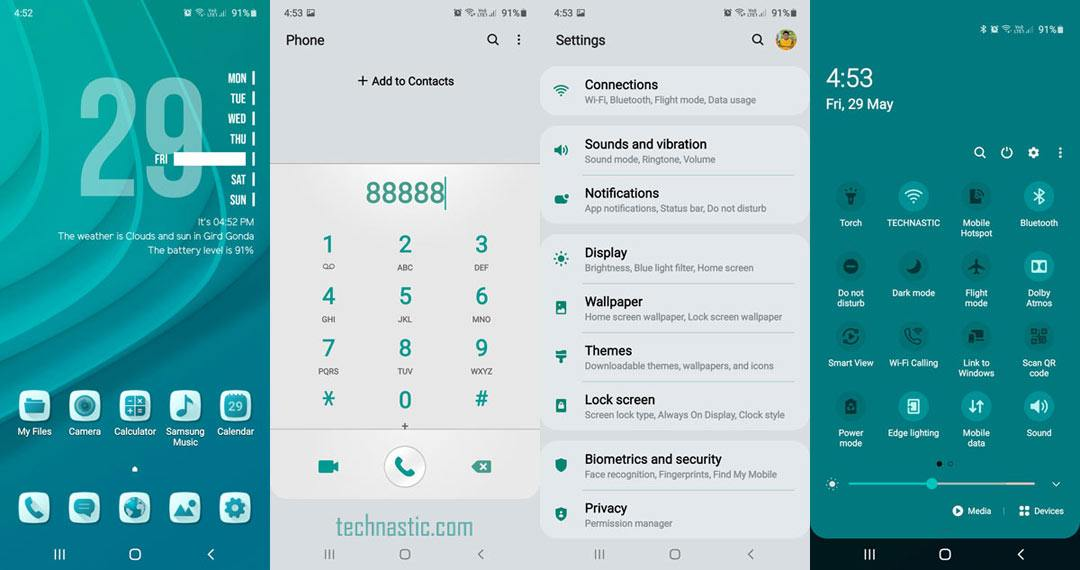 teal theme for samsung