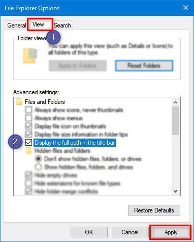 file explorer options windows