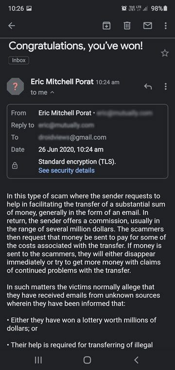 fake email or email spoofing