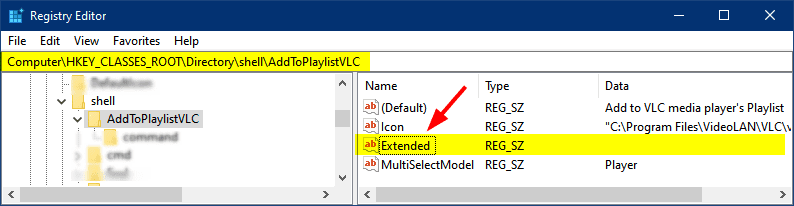 extended context menu windows 10