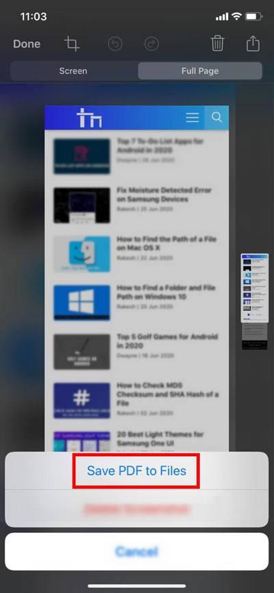 save webpage as pdf in safari ipad