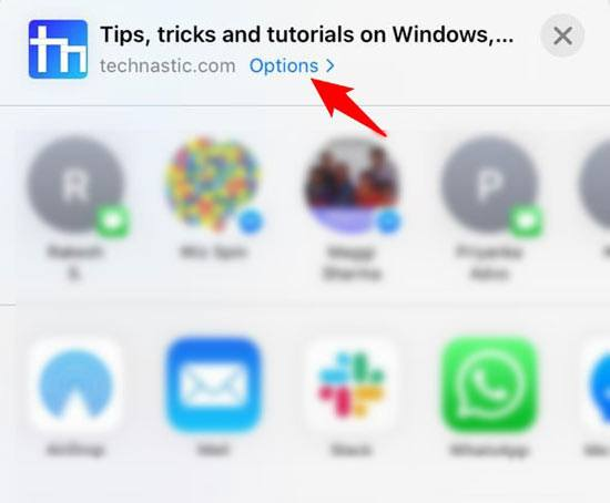 file sharing options on iphone