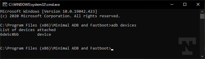 ad devices command on oneplus