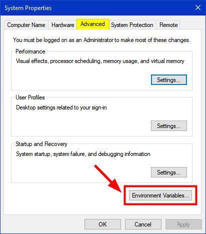 windows 10 system properties