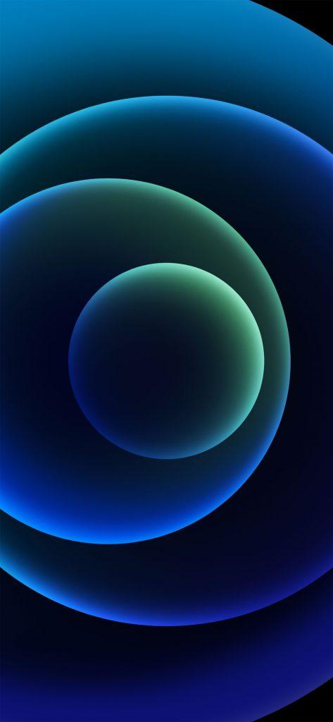iphone 12 dark blue wallpaper