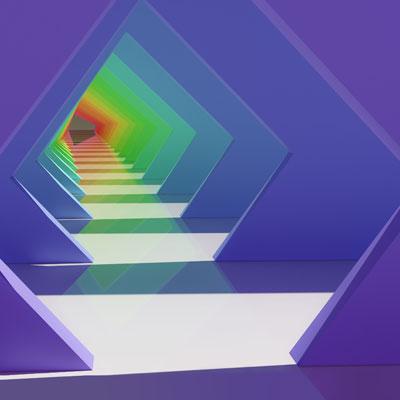 lg wing digital tunnel wallpaper