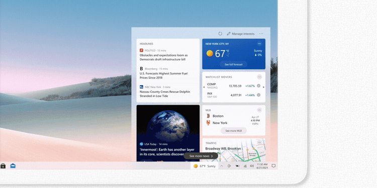 How to Enable or Disable News And Interests on Windows 10 Taskbar