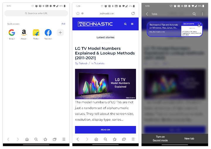 Samsung Internet ad blocker browser for Android