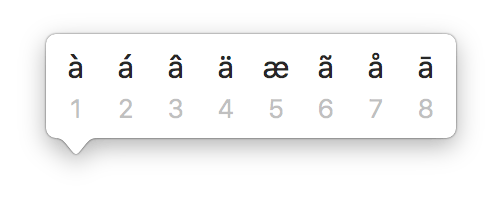 alternate and special characters in mac os